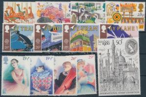1980-1988 13 klf bélyeg, közte sorok