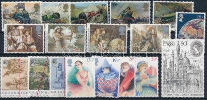1980-1985 18 klf bélyeg, közte sorok