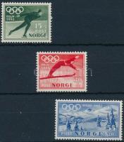 1951 Téli olimpia, Oslo sor Mi 372-374
