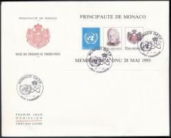 1993 Csatlakozás az ENSZ-hez blokk Mi 60 FDC-n