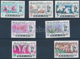 Kedah 1965 Orchideák sor Mi 106-112