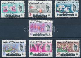 Selangor 1965 Orchideák sor Mi 98-104
