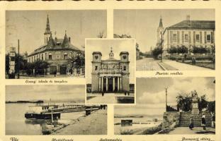 Vác, Evangélikus iskola és templom, Piarista rendház, hajóállomás, sétány, székesegyház