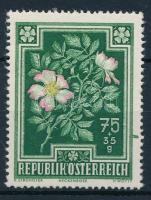 1948 Virág 75 + 35 g zöld festékcsík a jobb oldali bélyegközben