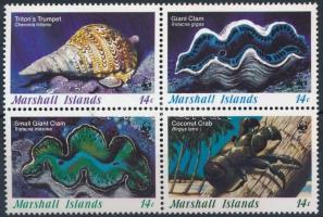 1986 WWF: Kagylók és csigák 4-es tömb Mi 73-76