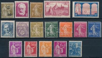 Franciaország 1927-1936 17 db bélyeg, France 1927-1936 17 stamps