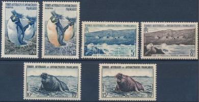 1956 Pingvinek és fókák sor Mi 2-7