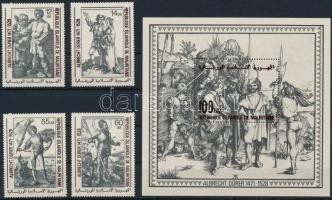 1978 Dürer festmény sor Mi 628-631 + blokk Mi 23