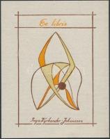 Inga Kyrkander Johansson(?-?): Ex libris Inga Kyrkander-Johansson. Klisé, papír, jelzett a klisén, 7,5x5 cm
