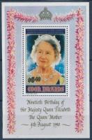 Elizabeth Queen Mother's 90th birthday block, Erzsébet anyakirálynő 90. születésnapja blokk