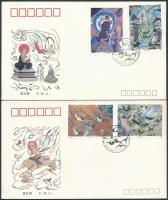 1990-1993 Painting 2 sets on 3 FDC, 1990-1993 2 db Festmény sor 3 db FDC-n