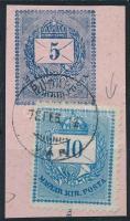 1878 5kr Postautalvány kivágás 10kr bélyeggel vésetjavítással (jobb felső sarok) BUDAPEST / VÁR