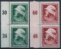1935 Hősök emléknapja Mi 569-570 ívszéli párok