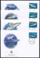 WWF: Cápafélék sor 4 db FDC-n WWF: Sharks set on 4 FDC