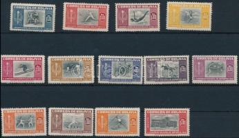 1951 Dél-amerikai bajnokság, La Paz 13 érték Mi 478-489, 491 (Mi 490 hiányzik / missing)