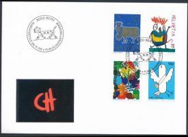 Children's Drawing set on FDC, Gyermekrajz sor FDC-n