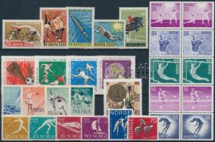 1959-1972 Sport 20 diff stamps + block of 10, 1959-1972 Sport motívum 20 klf bélyeg + 10-es tömb