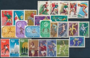 1963-1980 Sport 26 diff stamps, 1963-1980 Sport motívum 26 klf bélyeg