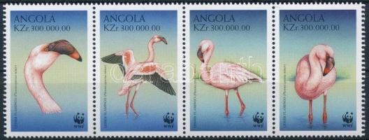WWF: Lesser flamingo stripe of 4, WWF: Kis flamingó négyescsík