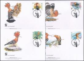 2008 WWF: Búbos banka sor Mi 453-456 4 db FDC-n