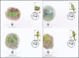 2003 WWF: Nagy Sándor papagáj sor Mi 963-966 + 4 db FDC-n