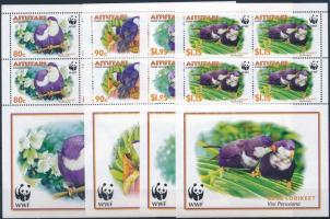 2002 WWF: Zafírlóri kisívsor Mi 772-775
