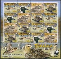 WWF: Ázsiai pettyeslile kisív WWF: Pacific Golden Plover minisheet