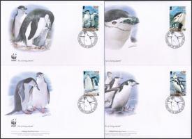 WWF: Pingvin sor 4 db FDC-n WWF: Penguin set on 4 FDC