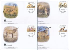 2010 WWF: Fakó lóantilop sor Mi 3658-3661 4 db FDC-n