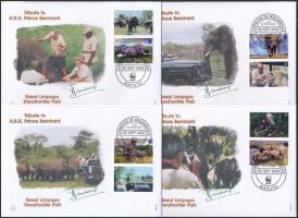 2002 WWF: Afrikai elefánt sor Mi 2393-2396 6 db FDC-n