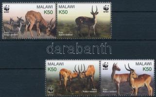 2003 WWF: Puku mocsári antilop sor párokban Mi 721-724