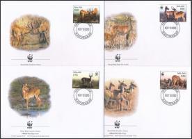 2003 WWF: Puku mocsári antilop sor Mi 721-724 4 db FDC-n