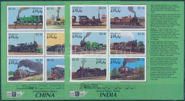 2000 Nemzetközi Bélyegkiállítás, London: Vasutak Japánban, Kínában és Indiában kisívsor Mi 3448-3459