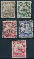 Togo 1900-1909 Mi 7-10 + 22