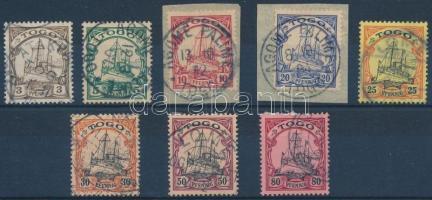 Togo 1900 Mi 7-12 + 14-15