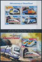 2014 Vonatok kisív Mi 5198-5201 + blokk 705