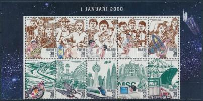 2000 Millennium (II) ívsarki 10-es tömb Mi 846 A-855 A