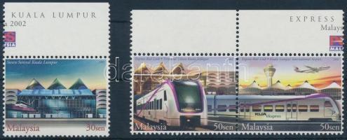 2002 Vonat ívszéli sor Mi 1088-1090