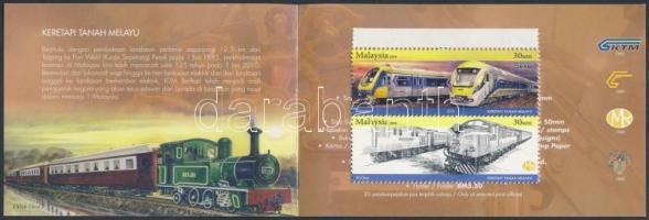 2010 125 éves a malajziai vasút bélyegfüzet Mi 1732-1736