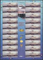 125 éves a malajziai vasút teljes ív Malaysian railway complete sheet