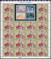 Bélyegnap: Postai egyenruha teljes ív Stamp Day: Postal uniforms complete sheet