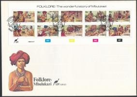 Folklore minisheet on FDC, Folklór kisív FDC-n