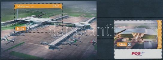 2014 Repülőtér 1 ívszéli érték Mi 2125 + blokk Mi 181