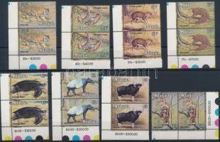 1979 Állatok sor ívsarki párokban Mi 189-196 Y