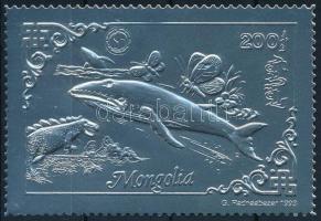 1993 Bálna ezüstfóliás bélyeg Mi 2471 A