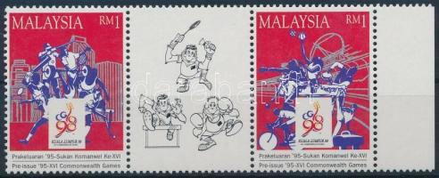 1995 Nemzetközösségi játékok, Kuala Lumpur ívszéli hármascsík Mi 569C-570C