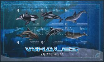 Whales and dolphins minisheet, Bálnák és delfinek kisív