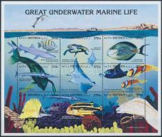 Tengeri állatok kisív Marine animals minisheet