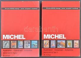 Michel Ausztrália Óceánia Antarktisz katalógus 2012 / 2013 (utolsó előtti kiadás) 2 kötetben jó állapotban