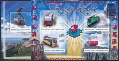 Locomotive minisheet + block, Vasúti közlekedés kisív + blokk